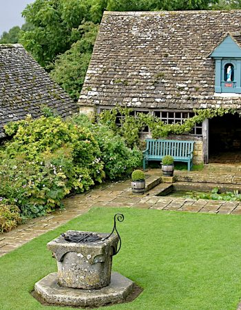 Courtyard and carthouse at Snowshill Manor